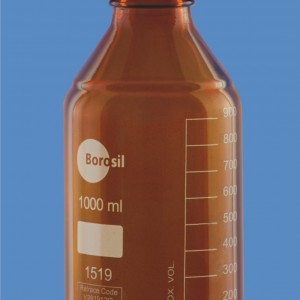 Bottles Amber Reagent Wide Mouth Screw Cap Pouring Ring Laboratory